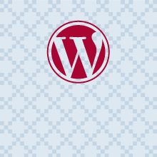 Wordpress logo with textured background